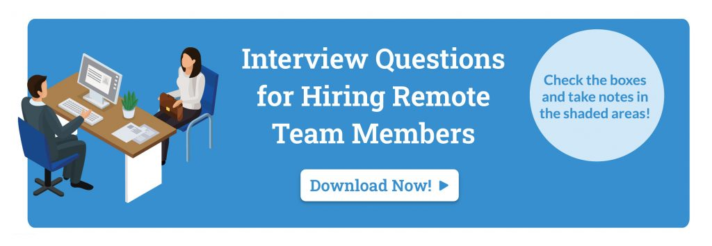 checklist for hiring a virtual team